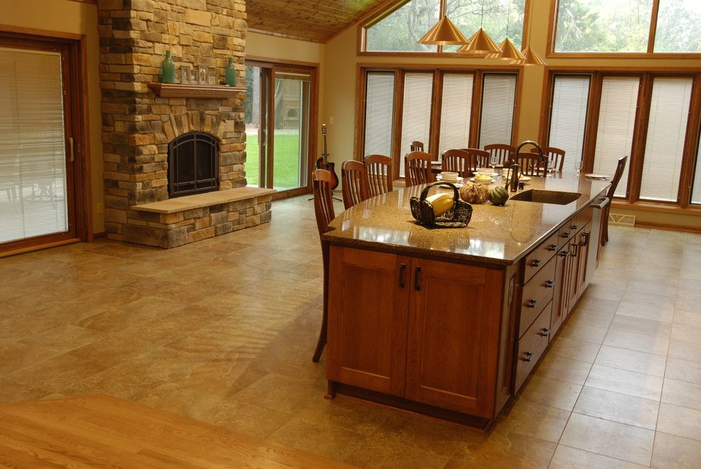Adura for a Traditional Kitchen with a Island with Seating and Kitchen Addition by Urban Herriges & Sons, Inc.