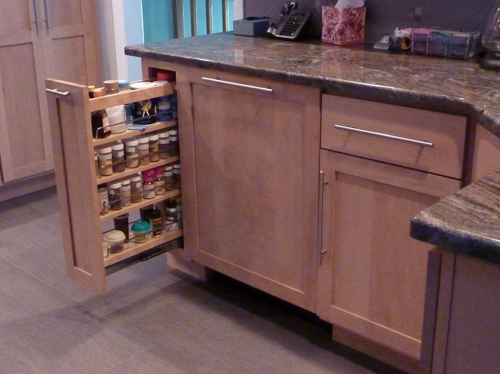 Adura for a Traditional Kitchen with a Pull Out Spice Rack and Needham Kitchen by Custom Contracting, Inc.