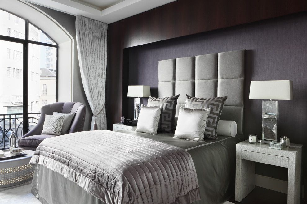 Allure Apartments for a Contemporary Bedroom with a Gray Bedroom and Fitzrovia Apartment Master Bedroom by Oliver Burns