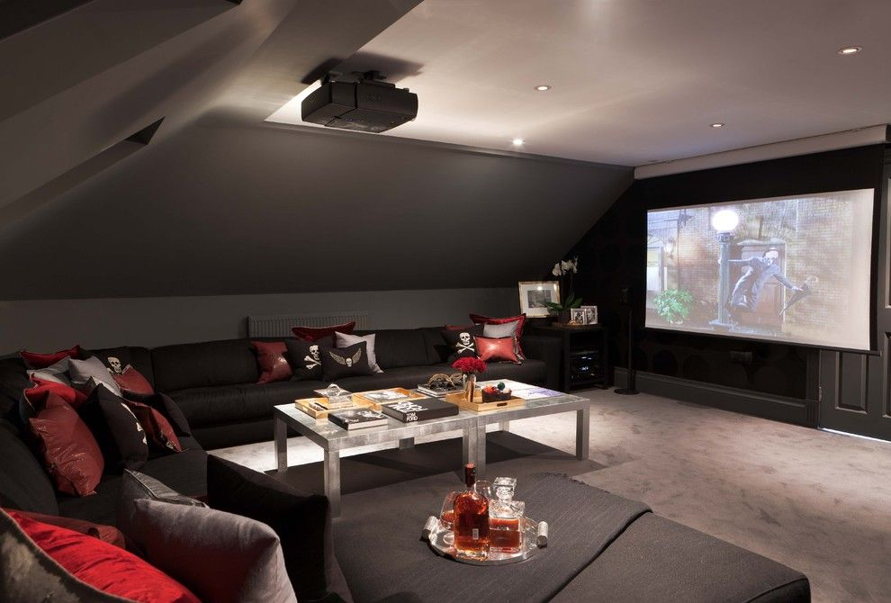 American Fork Theater for a Modern Home Theater with a Modern and American Dream by Maurizio Pellizzoni Ltd