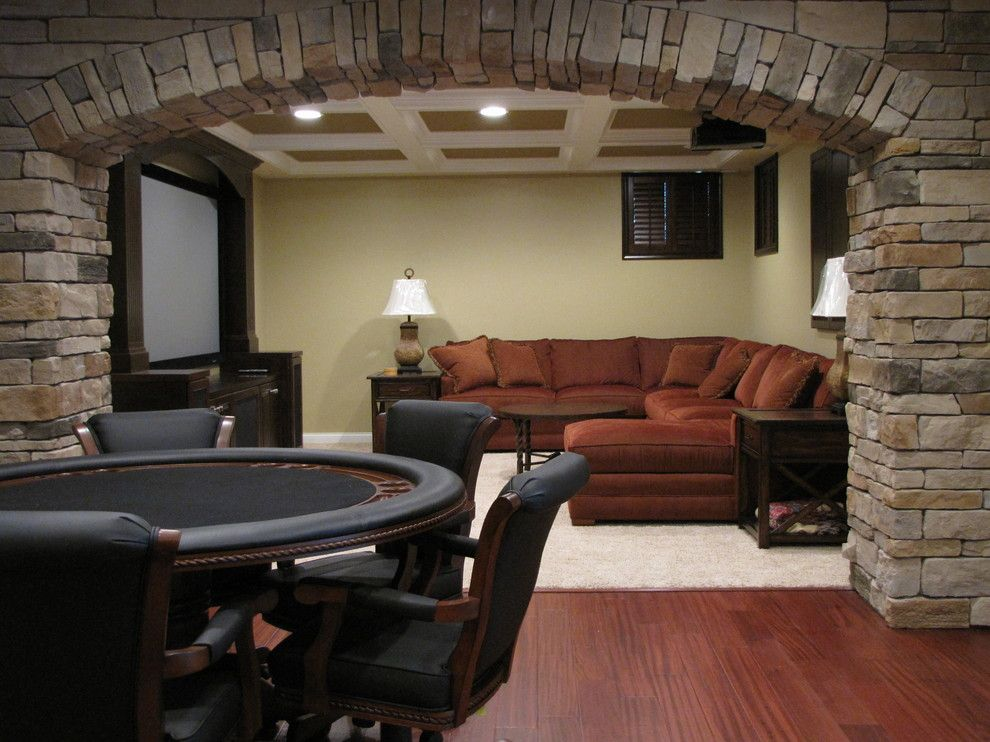 American Fork Theater for a Traditional Home Theater with a Family Room and Media Room by Buckeye Basements, Inc.