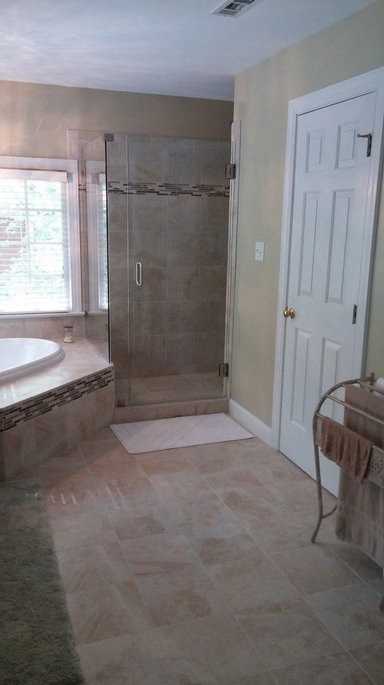 Apex Plumbing for a Traditional Bathroom with a Bathroom Remodel and Verrilli by Designhouse Kitchen and Bath, LLC