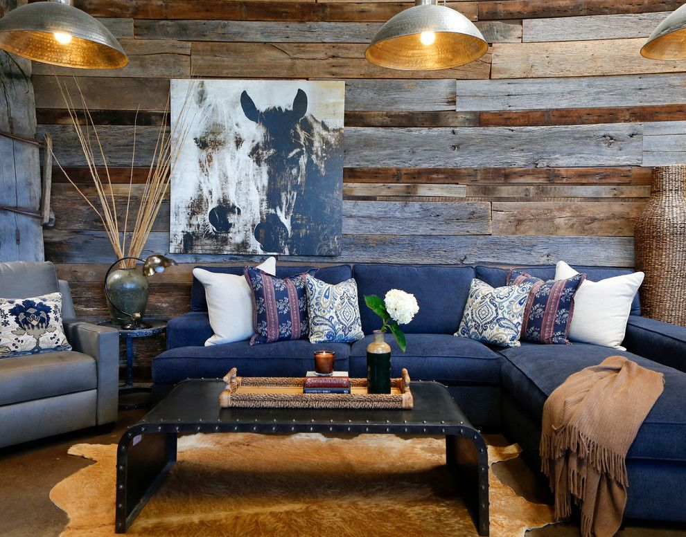 Aquiesse for a Rustic Family Room with a Palecek and Design Studio by the Sofa Guy