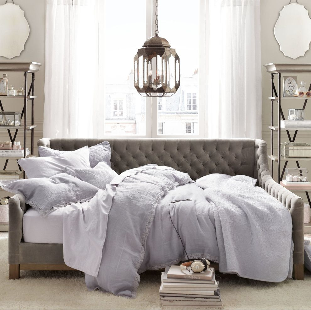 Ballard Hardware for a Traditional Bedroom with a Traditional and November by Restoration Hardware