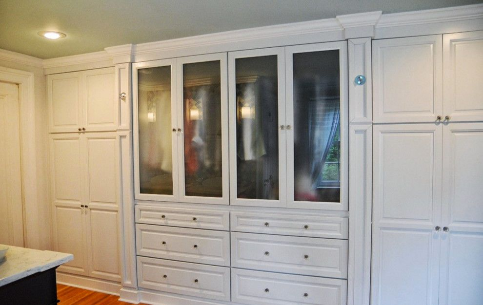 Ballard Hardware for a Traditional Closet with a Brushed Nickel Hardware and Pittsford, Ny Traditional White Bathroom by Innovations by Vp