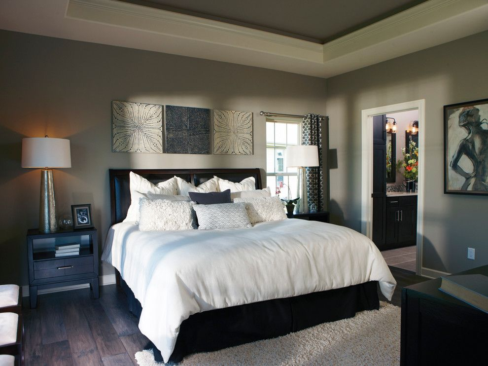 Bielinski Homes for a Transitional Bedroom with a Painted Ceiling and the Independence, Plan 2200   Owner's Retreat by Bielinski Homes