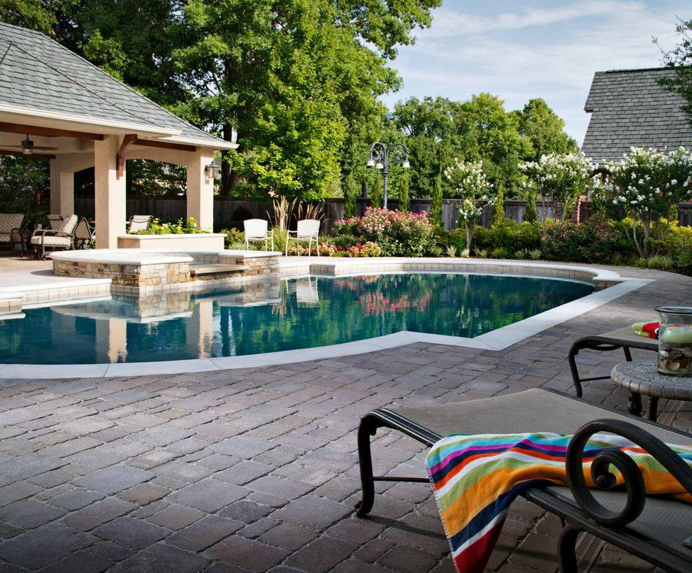 Boral Trim for a  Pool with a  and Belgard by Belgard