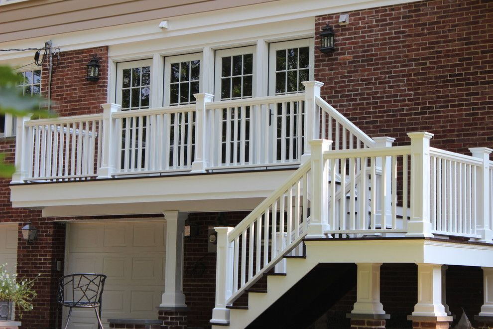 Boral Trim for a Traditional Deck with a Newell Posts and Back Deck by MCW Carpentry LLC