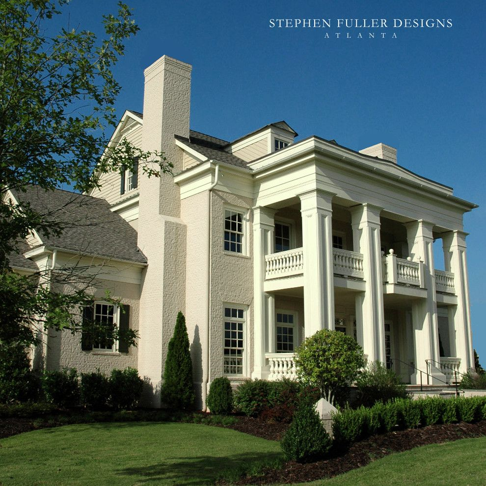 Boral Trim for a Traditional Exterior with a Columns and Front Facade by Stephen Fuller Designs