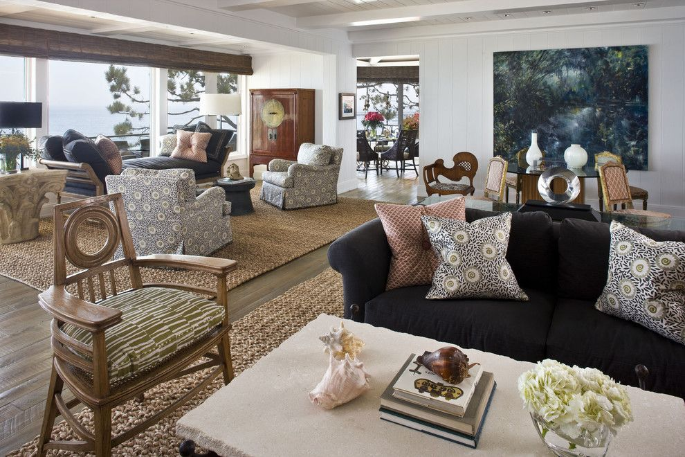 Brownlee Lighting for a Contemporary Living Room with a Pillows and Contemporary Beach Home by Harte Brownlee & Associates Interior Design