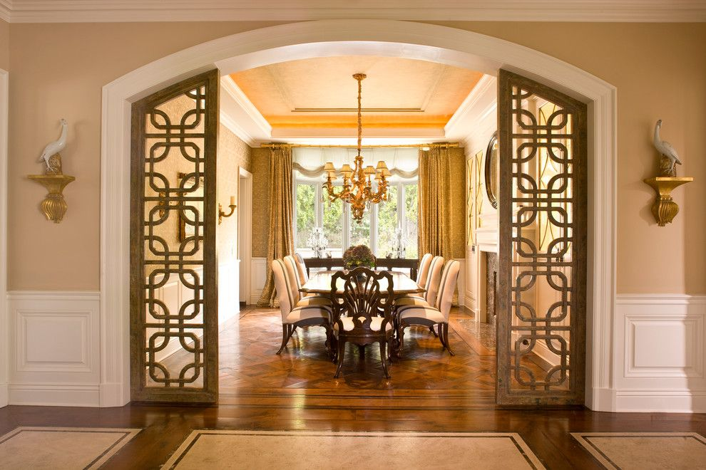 Brownlee Lighting for a Traditional Dining Room with a Newport Coast and Classic Traditional Residence by Harte Brownlee & Associates Interior Design