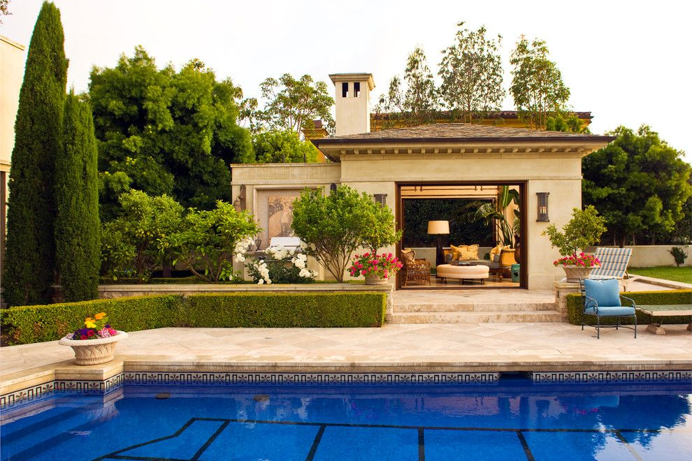 Brownlee Lighting for a Traditional Pool with a Backyard and Classic Traditional Residence by Harte Brownlee & Associates Interior Design