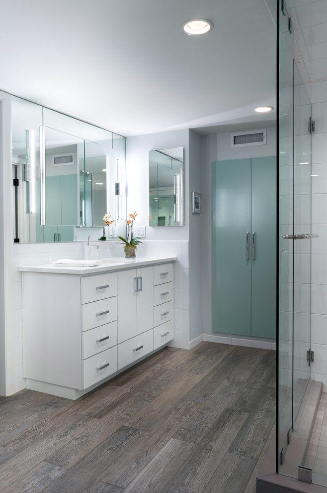Ceramic vs Porcelain Tile for a Contemporary Bathroom with a Master Bath and Sylvan Highlands, Master Bath by Smithcraft Fine Construction
