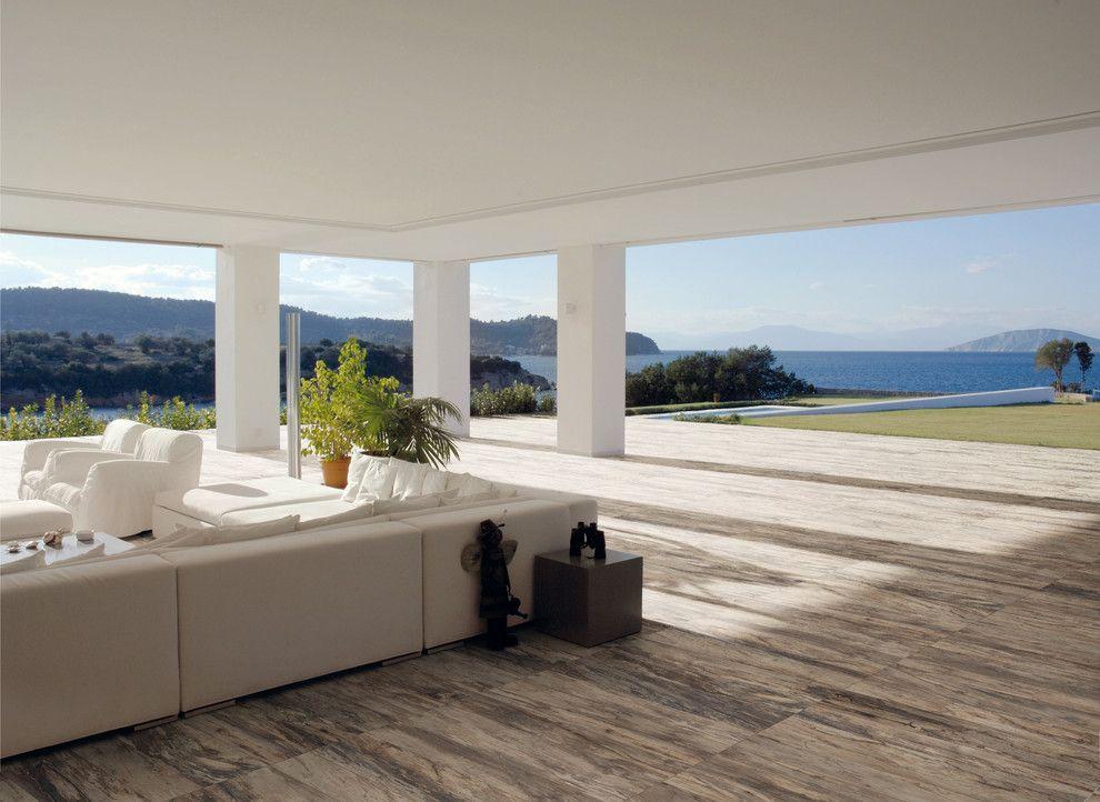 Ceramic vs Porcelain Tile for a Contemporary Patio with a Wood Look Porcelain and Ceramic & Porcelain Tile Ideas by Oregon Tile & Marble