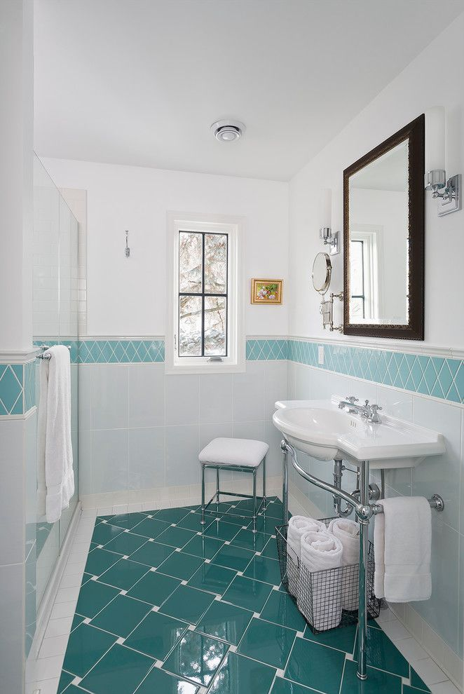 Ceramic vs Porcelain Tile for a Traditional Bathroom with a Master Bath and Residential Remodel by Meriwether Inc