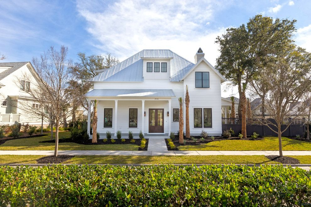 Charleston Forge for a Farmhouse Exterior with a White Exterior and Simmons Forge 1, Daniel Island, South Carolina by Shelter Custom Built Living