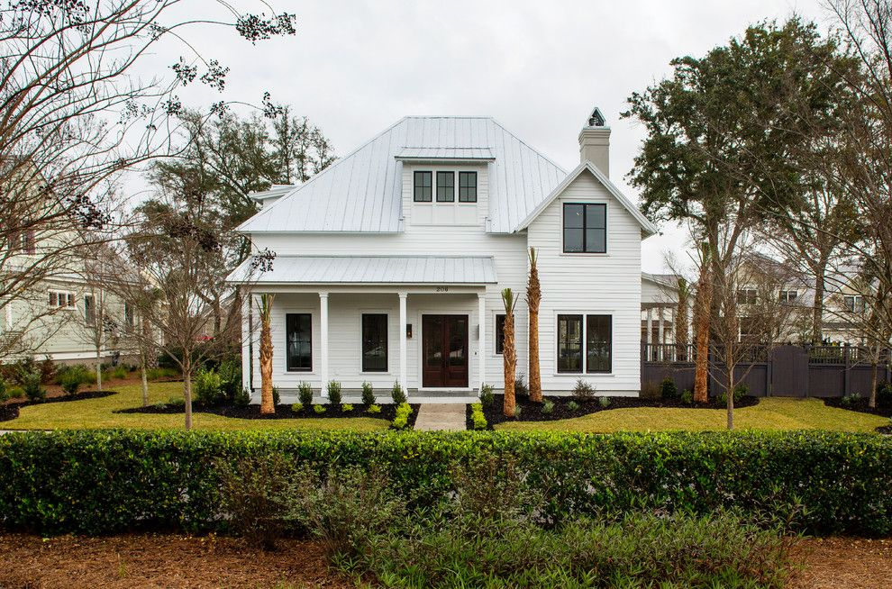 Charleston Forge for a Modern Exterior with a South Carolina and Simmons Forge 1, Daniel Island, South Carolina by SHELTER Custom-Built Living