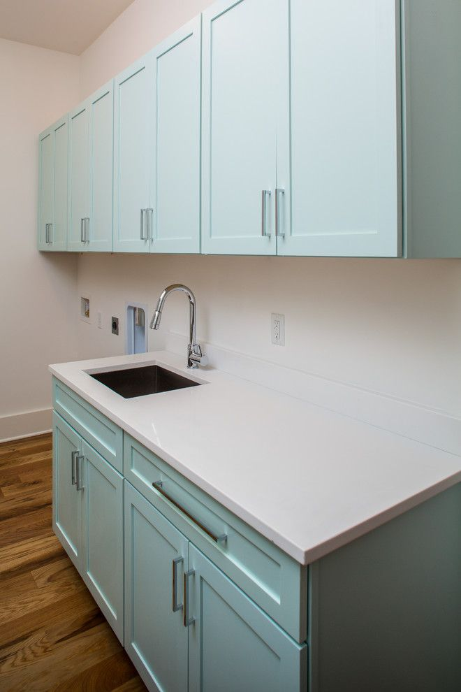 Charleston Forge for a Modern Laundry Room with a Modern and Simmons Forge 1, Daniel Island, South Carolina by Shelter Custom Built Living