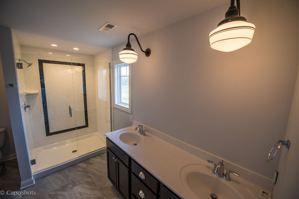 Charlie Steiner for a Craftsman Bathroom with a Architectural Details and the Charlie by Steiner Homes Ltd.