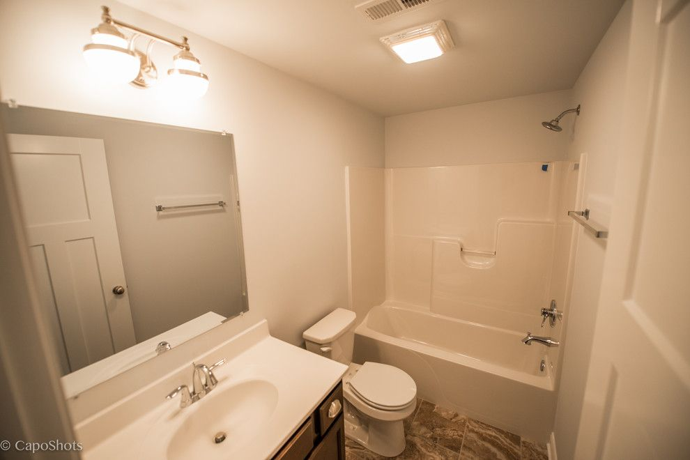 Charlie Steiner for a Craftsman Bathroom with a Craftsman and the Charlie by Steiner Homes Ltd.