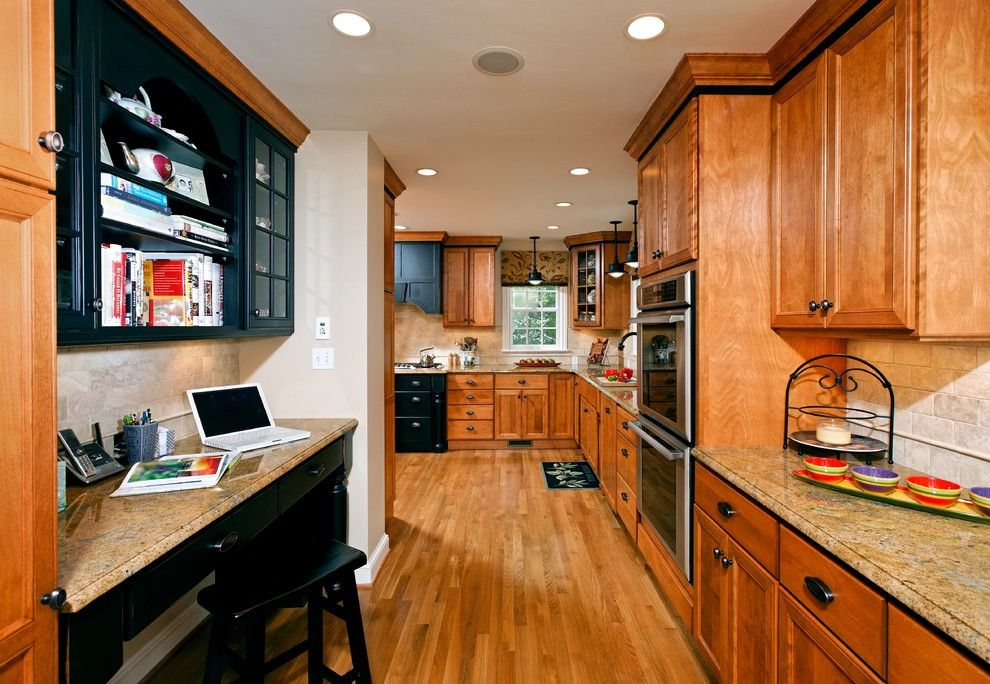Cherrydale Hardware for a Traditional Kitchen with a Corner Cabinets and Case Design/remodeling, Inc. by Case Design/remodeling, Inc.