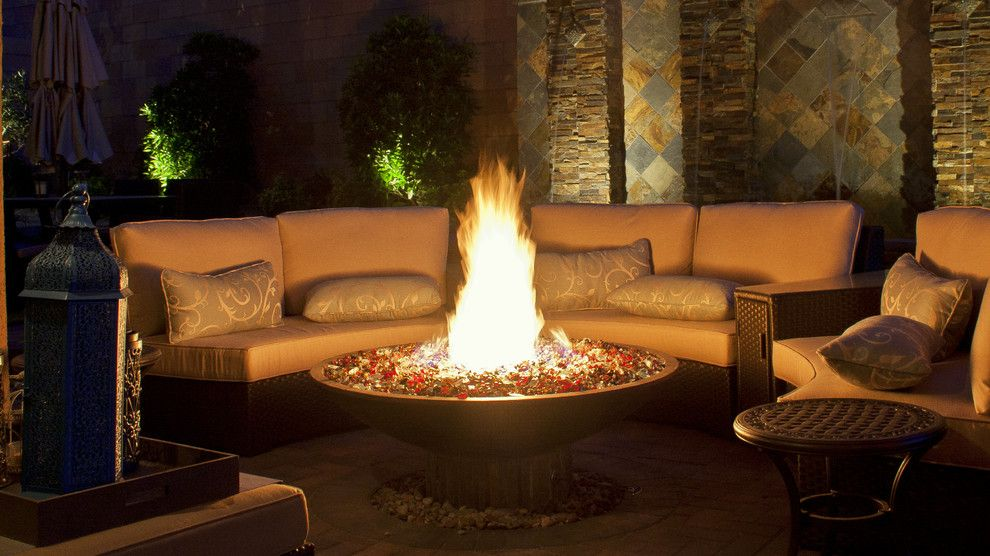 Chip and Dales for a Contemporary Landscape with a Indoor Outdoor Living and Fire Features by Chip N Dale's Custom Landscaping