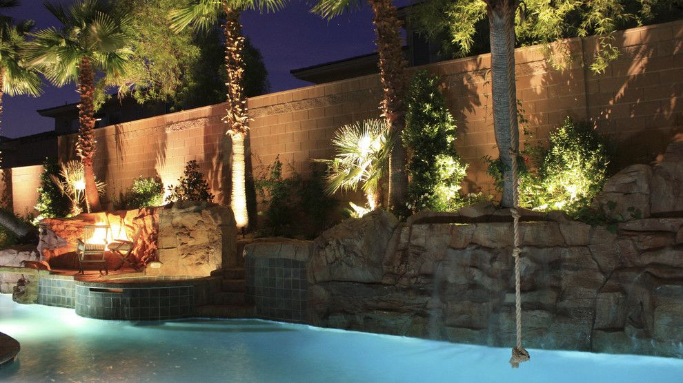 Chip and Dales for a Tropical Landscape with a Tropical and Landscape Lighting by Chip N Dale's Custom Landscaping