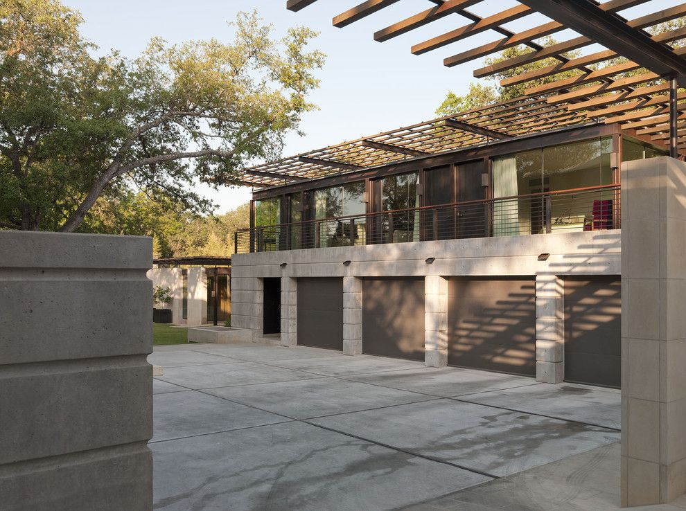 Cinder Block Wall for a Modern Exterior with a Turf and Tarrytown Phase Ii by Webber + Studio, Architects