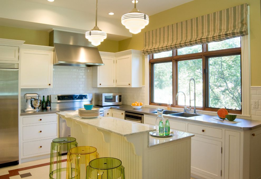 City Floral Denver for a Traditional Kitchen with a Pendant Light and Victorian Cottage by Hsearchitects