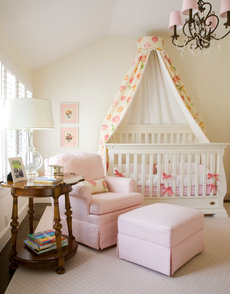 City Floral Denver for a Traditional Nursery with a Pink Lampshade and Denver Family Room by Wolfe Design House