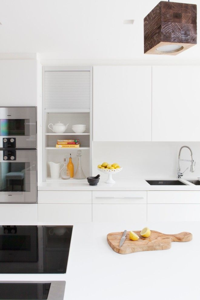 Clean Dishwasher Vinegar for a Contemporary Kitchen with a Kitchen and Chiswick, Family House by Amelia Carter Interiors