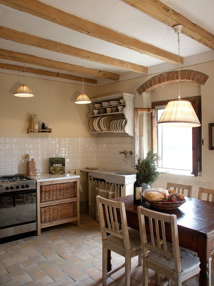 Clean Dishwasher Vinegar for a Farmhouse Kitchen with a Country and La Fornella by Lisa Gabrielson Design