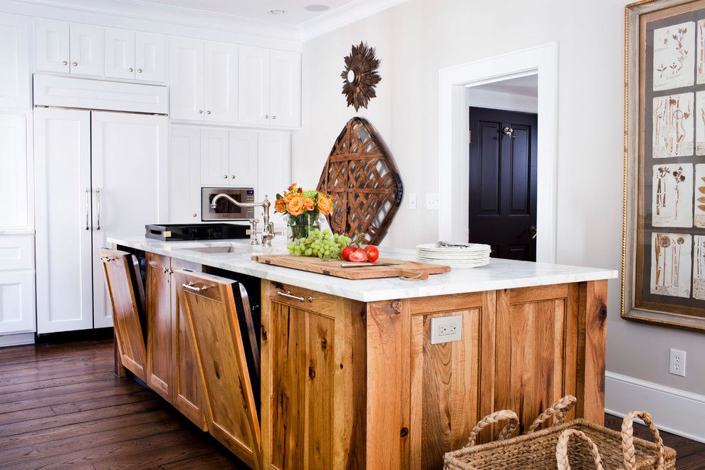 Cleaning Dishwasher with Vinegar for a Traditional Kitchen with a Wood Kitchen Island and Ansley Kitchen Renovation by Terracotta Design Build