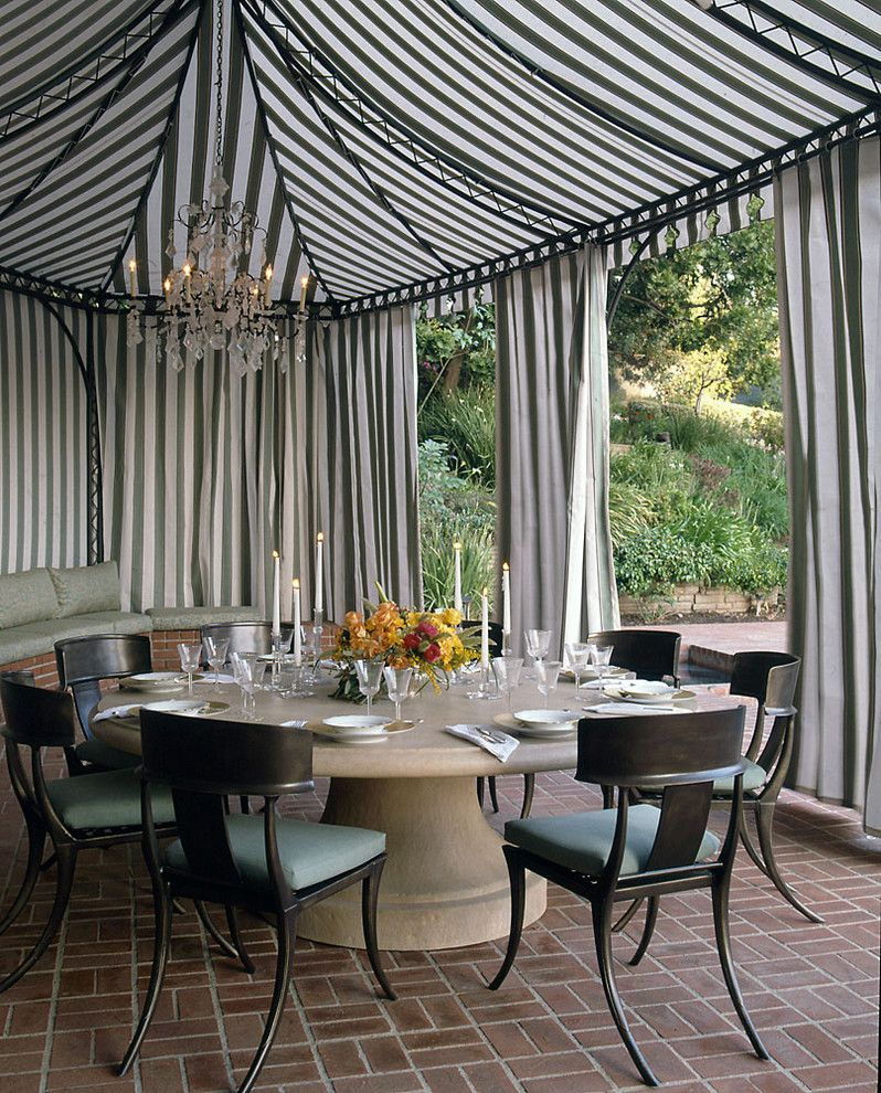 Cme Associates for a Traditional Patio with a Drapes and Susan Cohen,Asid by Susan Cohen Associates, Inc.