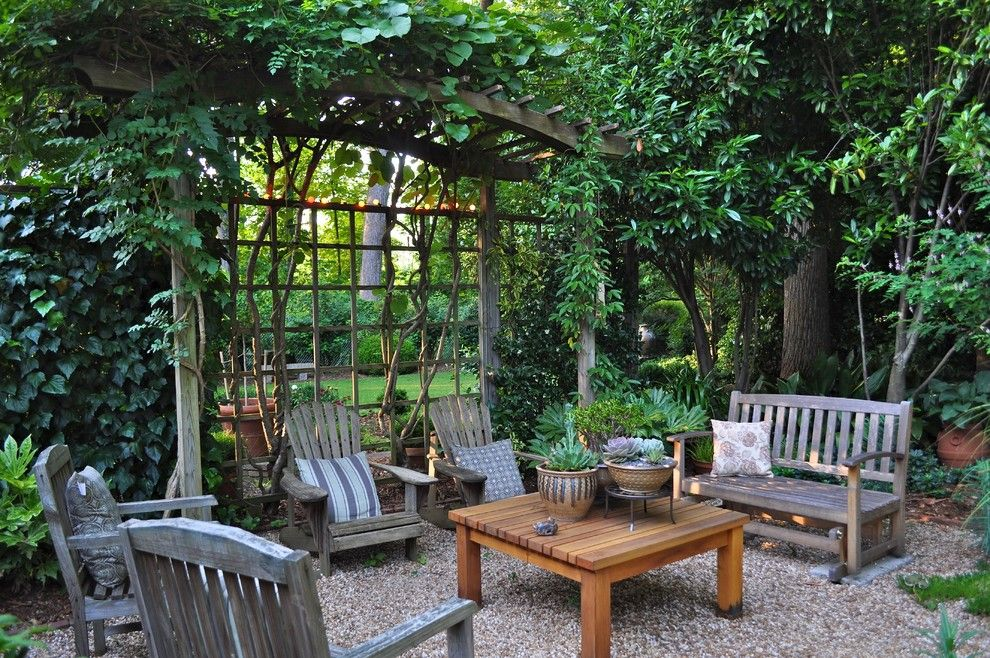Cme Associates for a Traditional Patio with a Weathered Wood and Bruce's Garden by Bruce Clodfelter and Associates