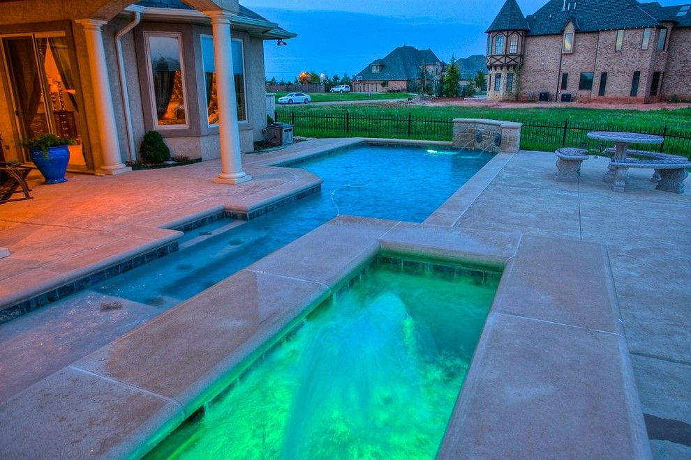 Cobblestone Theater for a Mediterranean Pool with a Gated Community and 8116 Nw 134 Terr Nw Okla City Wyatt Poindexter Kw Elite by Wyatt Poindexter of Keller Williams Elite