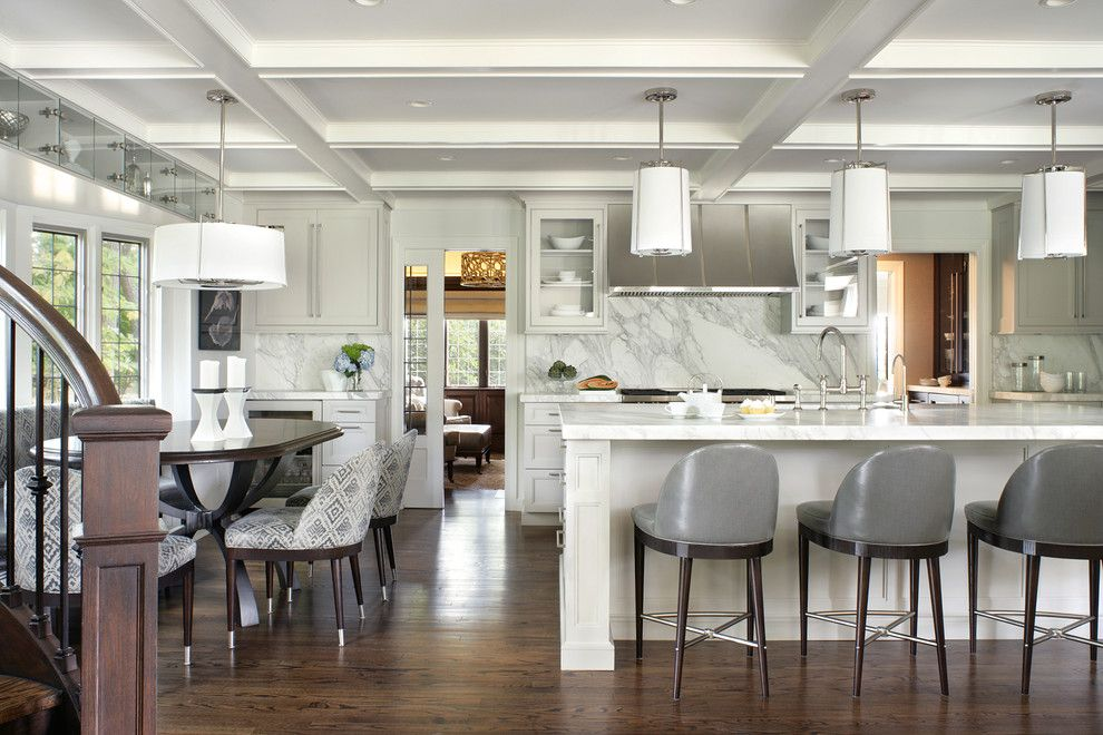 Conaway Homes for a Transitional Kitchen with a Gray Barstools and Kitchen Portfolio by Ulrich Inc