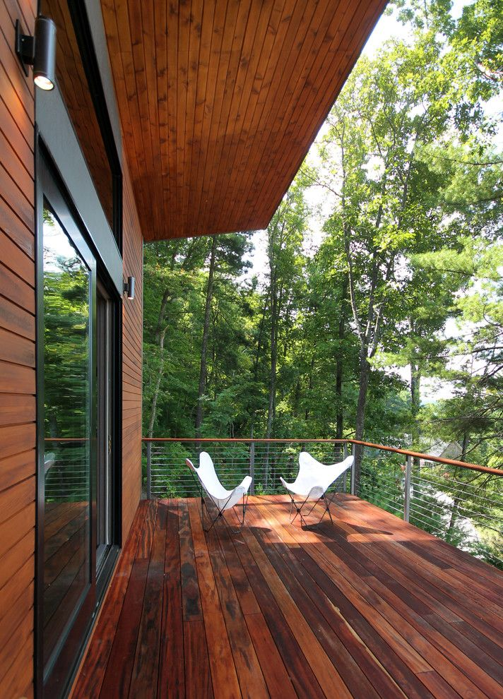 Conestoga Wood Specialties for a Contemporary Deck with a Exterior Lighting and Stegall Lane by Rusafova Markulis Architects