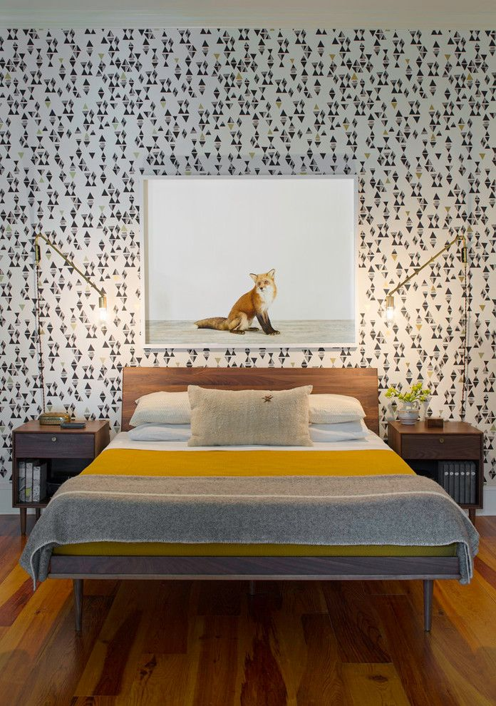 Coyuchi for a Contemporary Bedroom with a Wooden Bed Frame and Bartow Point Drive by Rethink Design Studio
