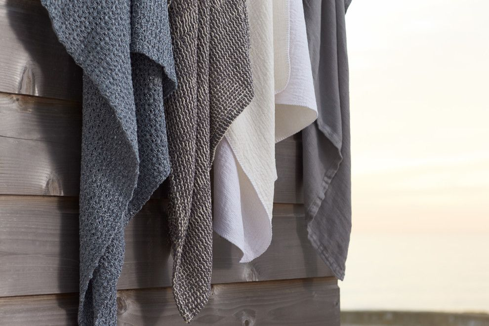 Coyuchi for a Modern Spaces with a Bath Linens and Spring 2016 by Coyuchi