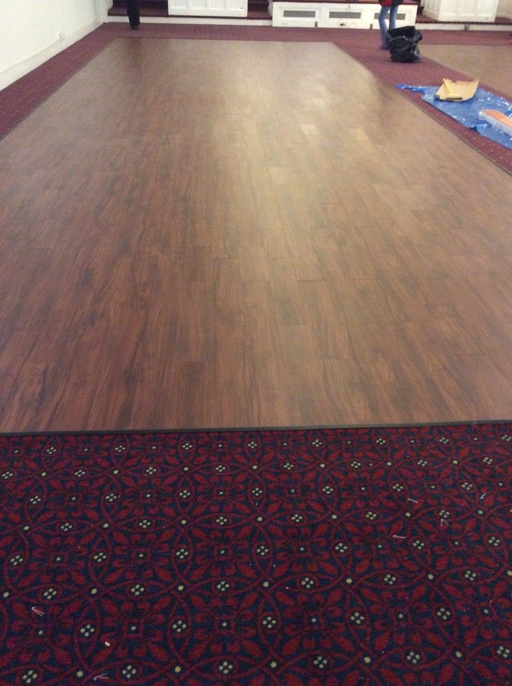 Durkan Carpet for a Transitional Spaces with a Fusion Lvt and Atlanta Baptist Church by Capital Floors