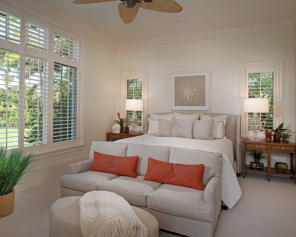 Eden Crest Vacation Rentals for a Tropical Bedroom with a Crown Molding and Florida Vacation Home  Master Bedroom by Rlh Studio