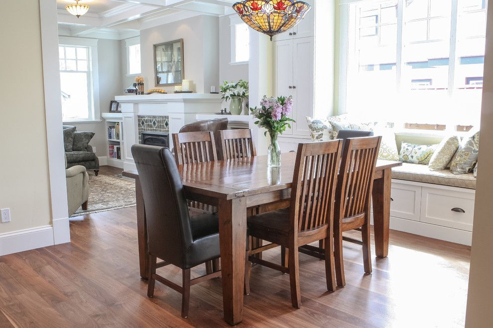 Enmark for a Craftsman Dining Room with a Craftsman and Fairfield Residence by Enmark Construction Ltd
