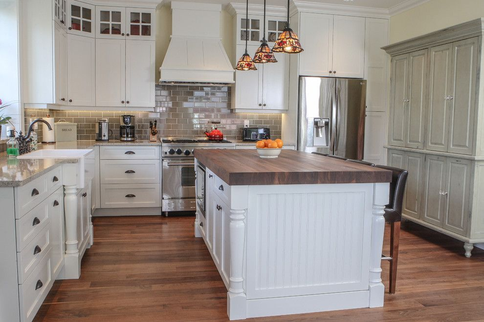 Enmark for a Craftsman Kitchen with a Craftsman and Fairfield Residence by Enmark Construction Ltd
