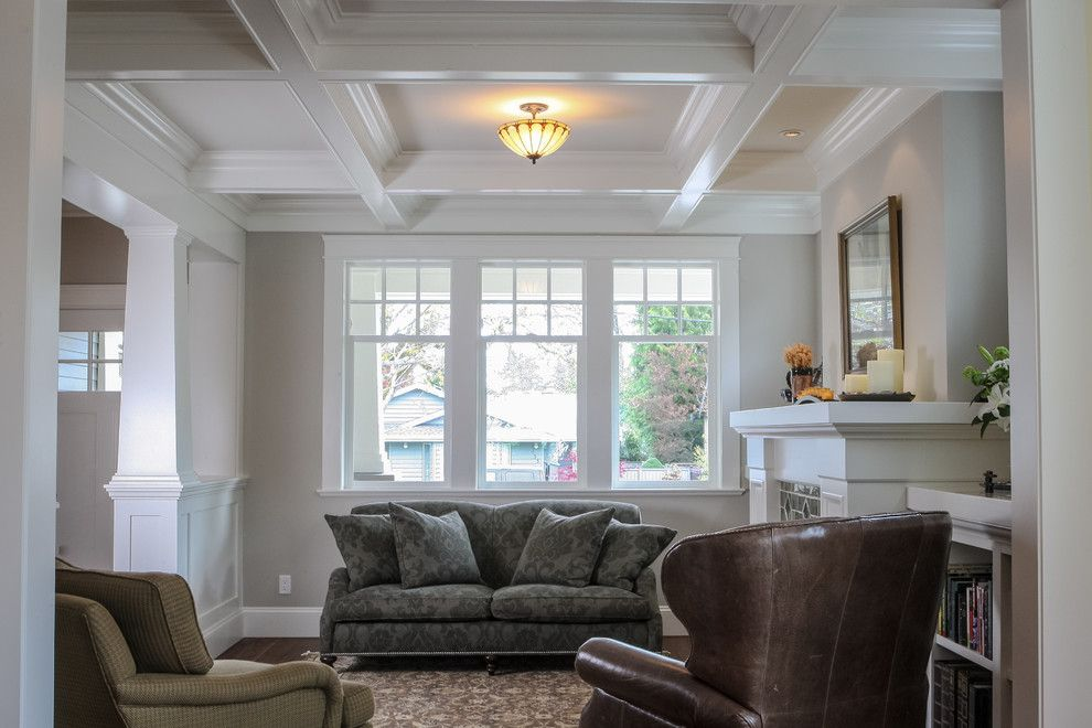 Enmark for a Craftsman Living Room with a Craftsman and Fairfield Residence by Enmark Construction Ltd