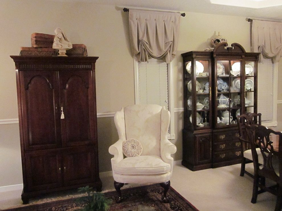 Ennis Furniture for a Traditional Living Room with a China Cabinet and Traditional Home by Kathy Boles Ennis Fine Furniture