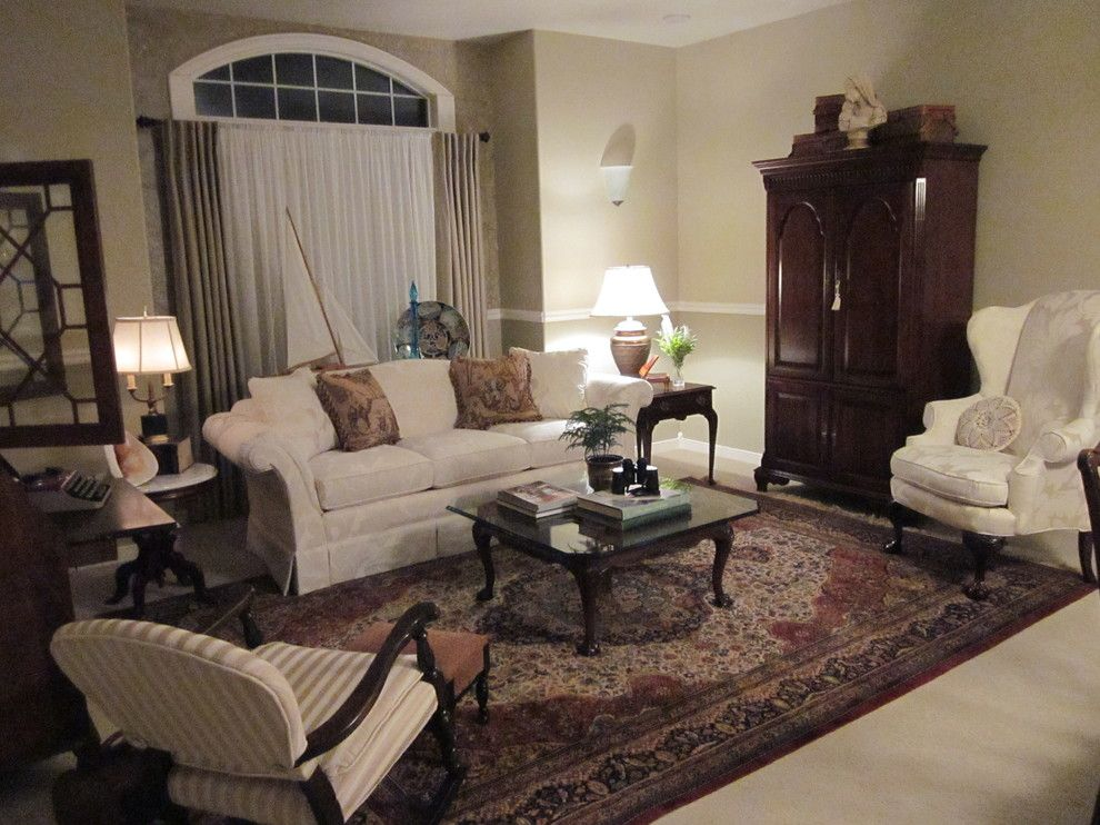 Ennis Furniture for a Traditional Spaces with a Dam and Traditional Living Room by Kathy Boles Ennis Fine Furniture