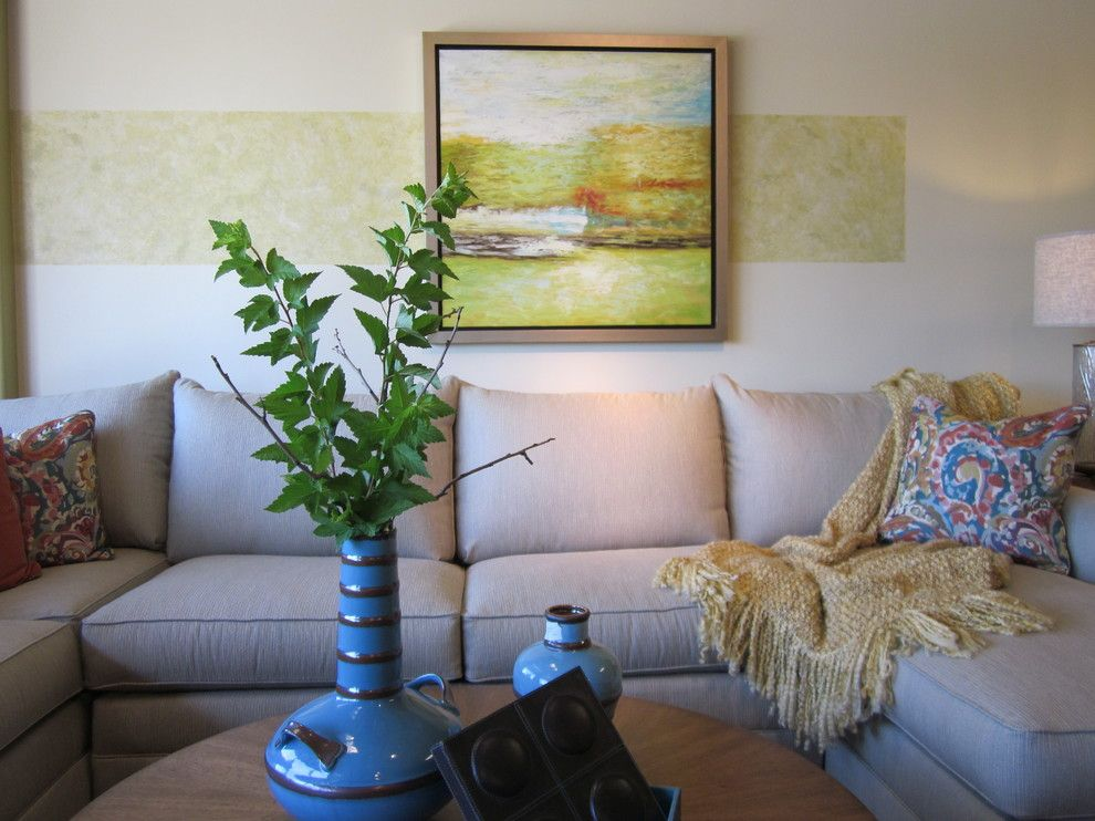 Ennis Furniture for a Transitional Living Room with a Contemporary Artwork and Transitional Home by Kathy Boles Ennis Fine Furniture