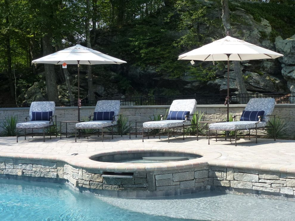 Ethan Allen Danbury Ct for a Traditional Pool with a Relaxing Pool Area Collaboratively Desi and Patio, Easton, CT by Allison Lee Ethan Allen Danbury, CT
