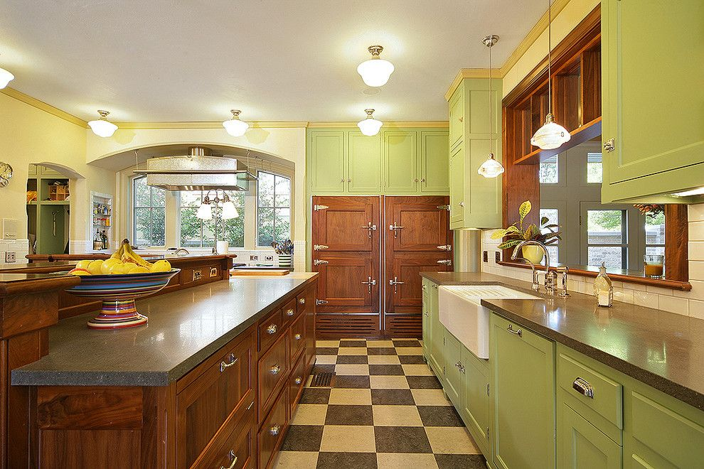 Forbo Flooring for a Traditional Kitchen with a Spanish Colonial and Princeton House by Domiteaux + Baggett Architects, Pllc